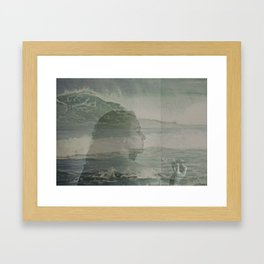 Sailing in my head Framed Art Print