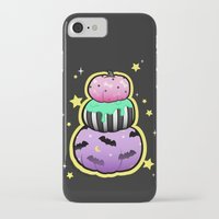 pastel goth iPhone & iPod Cases featuring Pastel Goth Pumpkin Stack by MagicCircle