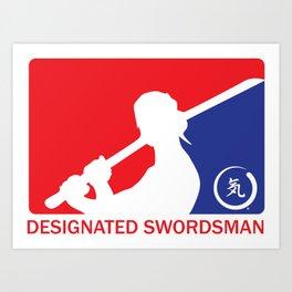 Designated Swordsman Art Print