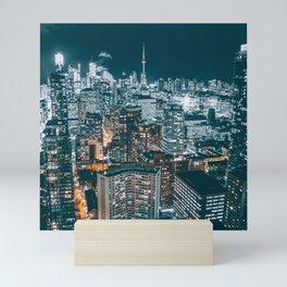 Toronto by night - City at night Mini Art Print