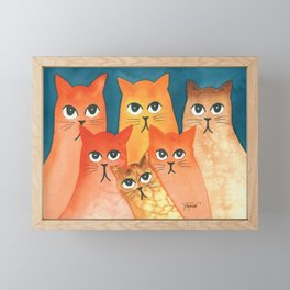 Santa Fe Whimsical Cats Framed Mini Art Print