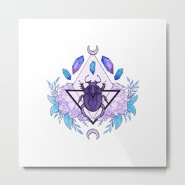 Scarab Queen Metal Print