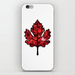 A Maple Leaf with Heart iPhone Skin