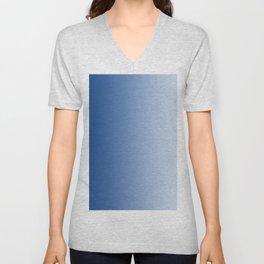 Blue to Pastel Blue Vertical Linear Gradient Unisex V-Neck