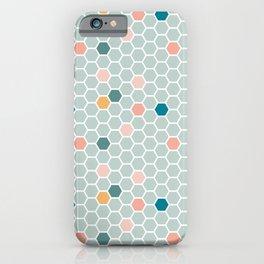 Hexagon Tile Pattern - Blue Pastel iPhone Case
