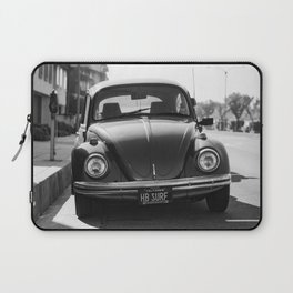 Hermosa Beach Surf Bug, Black and White Photography Print, Beach Art, South Bay Los Angeles Art Laptop Sleeve