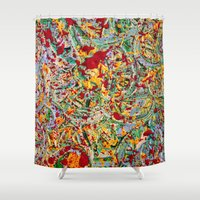emerald Shower Curtains featuring Emerald by VPart