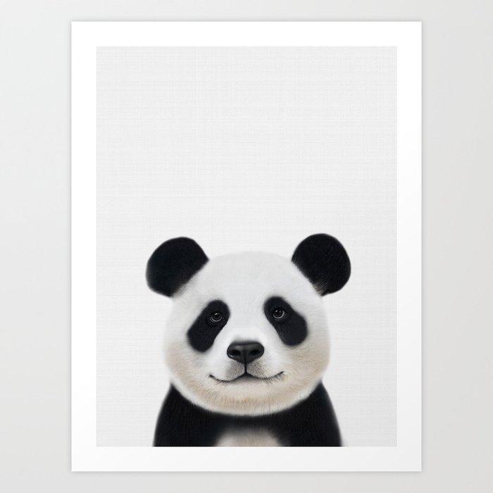 Panda Print Nursery Art Decor Animal Baby Animals By Nikiandneo