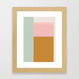 Abstract Geometric Color Block Design Framed Art Print