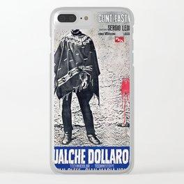 Vintage Italian Film Poster - Spaghetti Western Clear iPhone Case