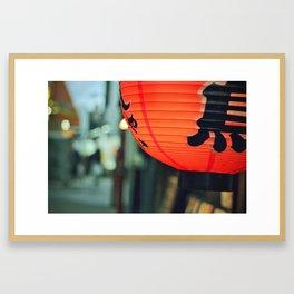 Paper Lantern Framed Art Print