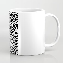 Abstract 041211 - White on Black Coffee Mug