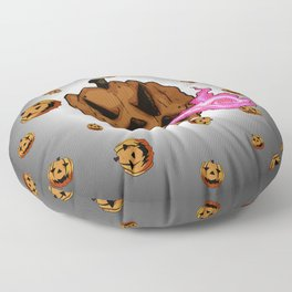 Soul Eater Jack o'lantern . Halloween Pumpkin Floor Pillow