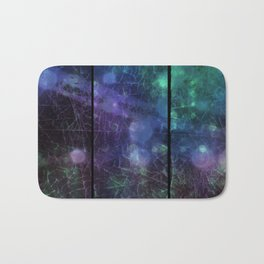 Purple,  Green and Blue Bath Mat