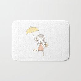 April Showers bring May Flowers Bath Mat