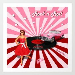 Rock'n Roll the sweet Fifties Art Print