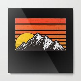 Mountains Mountain Sports Mountain Equipment Metal Print