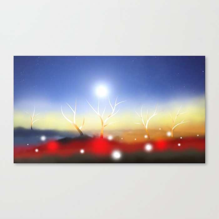 Avatar Crystal Trees - prime dimension Canvas Print