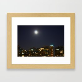 Night Skyline Framed Art Print