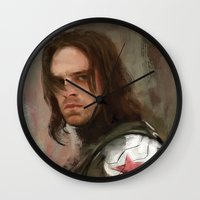 the winter soldier Wall Clocks featuring WS 1 by Wisesnail