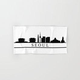 seoul skyline Hand & Bath Towel