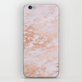 Pastel Lavender Marble Rosegold Glitter Pink iPhone Skin
