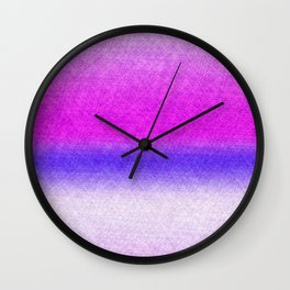 Abstract lilac blue pink geometrical ombre Wall Clock