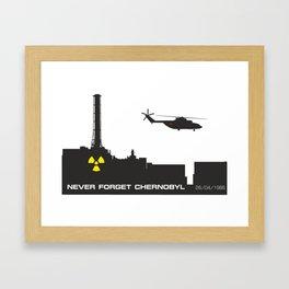 Never forget Chernobyl tragedy Framed Art Print