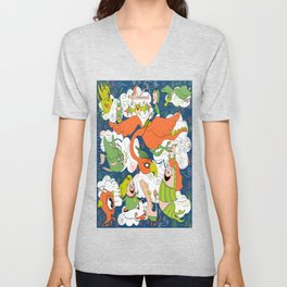 Animals Creatures by Air with Kids Unisex V-Neck