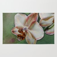 orchid Area & Throw Rugs featuring Orchid by LoRo  Art & Pictures