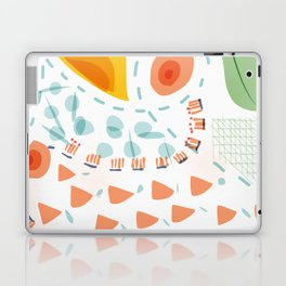 Greenery in april | Happy modern art | Apartment decor Laptop & iPad Skin
