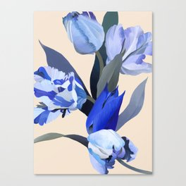 The melancholy of tulip Canvas Print