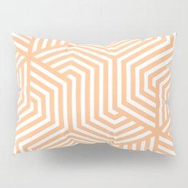 Macaroni and Cheese - pink - Minimal Vector Seamless Pattern Pillow Sham