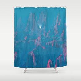 Neon Waterfalls Shower Curtain