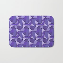 Ultra Violet Abstract Waves Bath Mat