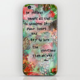 Be Patient iPhone Skin