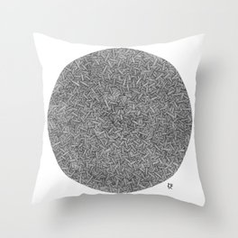 Abstract circle line drawing Throw Pillow