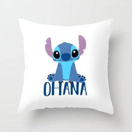 Stitch Ohana Throw Pillow