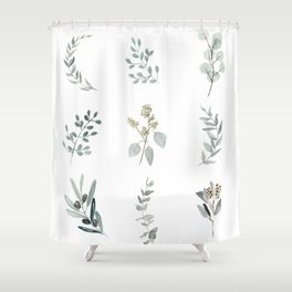 Botanical elements Shower Curtain