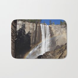 Rainbow Over Vernal falls Bath Mat