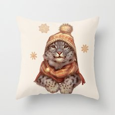 Beanie Weather Throw Pillow