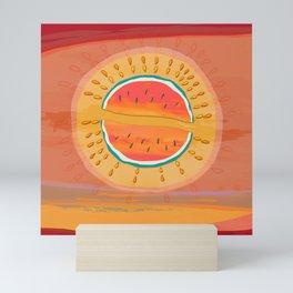 Sun Watermelon Mutants Sequence 1 Mini Art Print