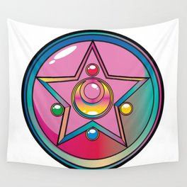 Magical Moon Neon Compact Wall Tapestry