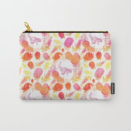 Beautiful Australian Print - Australian Native Florals with Possum Illustrations Carry-All Pouch