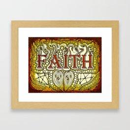 Faith Golden Framed Art Print