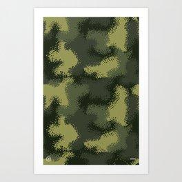 MPat Camouflage Pattern Art Print