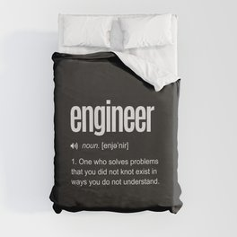 Funny Engineer Definition Duvet Cover