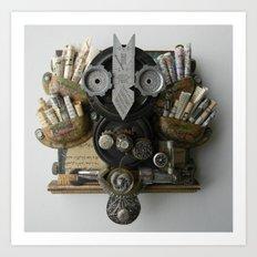 Paper Owl Art Print