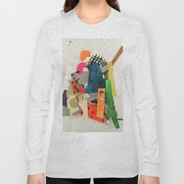 Sunset Mountain Paper Pile Long Sleeve T-shirt