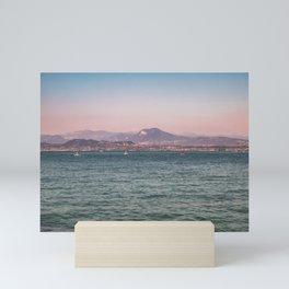 Lake Garda riviera / Italy / Pink&Blue Mini Art Print